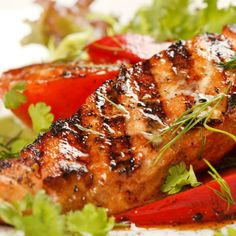 Brazilian marinade combines paprika, wine, garlic into a terrific and flavorful sauce for fish. Works well with halibut, sea bass or other white fish. - Grilled Fish with Brazilian Garlic Marinade Grilled Fish Marinade, Garlic Marinade Recipe, Grilled Fish Recipes, Salmon Recipes, Grilling Recipes, Cooking Recipes, Meal Recipes, Party Food Hacks, Roasted Salmon
