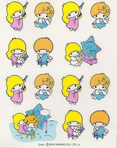 【1976】Stickers ★Little Twin Stars★