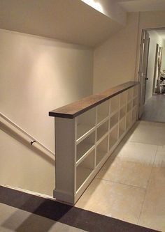 A DIY Bookcase Stair Railing – love this use of space for more bookshelves. I could totally do this for my house. A DIY Bookcase Stair Railing – love this… Attic Rooms, Attic Spaces, Small Spaces, Attic Bathroom, Attic House, Attic Playroom, Attic Apartment, Attic Bedroom Ideas Angled Ceilings, Attic Floor