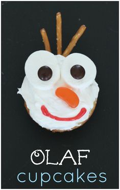 Super EASY Olaf Cupcakes to go with Frozen!