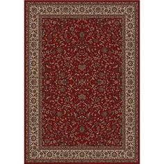 Concord Global Trading Inc. Presidential 5.3 x 7.7 Area Rug : Red - 965001236