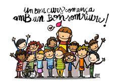 by Joan Turu Class Decoration, School Decorations, Teaching Quotes, Education Quotes, Catalan Language, Turu, Love Illustration, Teachers' Day, Art Activities