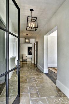 Love the feel for Sebastopol, stone floors, clean linear lights, steel doors, old wood floors.