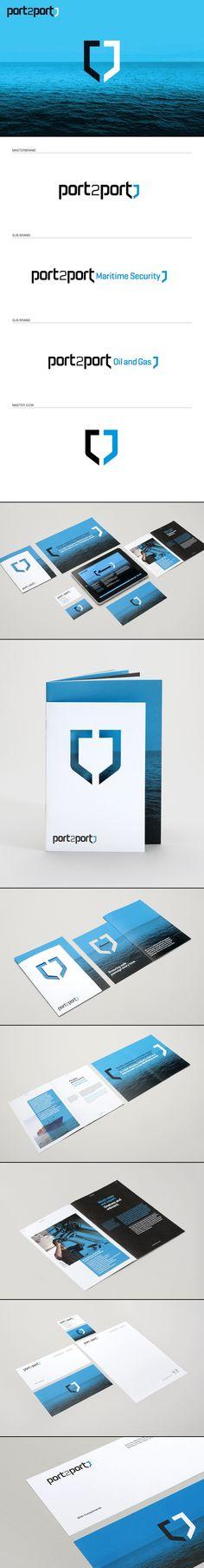 Port2Port Identity | #stationary #corporate #design #corporatedesign #identity #branding #marketing < repinned by www.BlickeDeeler.de | Take a look at www.LogoGestaltung-Hamburg.de