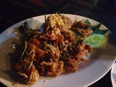 Fried Head Shrimp with crispy garlic .