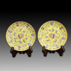 Pair Chinese Famille Rose Porcelain Plates - May 2018 Decorative Plates, Auction, Porcelain, Chinese, Pairs, Pottery, Gallery, Rose, Ceramica