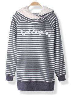 Women casual thicken stripe pullover hooded sweatshirt 3 button sweatshirts #6xlt #sweatshirts #sweatshirts #diy #sweatshirts #tie #dye #washington #d #c #sweatshirts