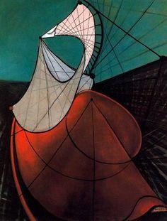 Mujer, 1941. Cubismo - Óscar Domínguez