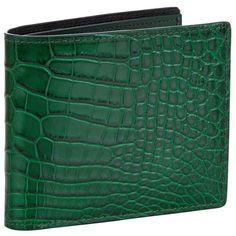 TOM FORD Alligator Skin Bifold Wallet ($1,075) ❤ liked on Polyvore featuring men's fashion, men's bags, men's wallets, mens crocodile wallet and mens alligator wallet