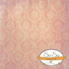 Damask Pink White Grunge $75