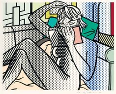 Roy Lichtenstein (1927-1993) Nude Reading, from Nudes (1994) relief print in colors(60.7 x 77.1 cm)