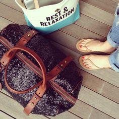 Beach House Travel c/o Cheetah is the New Black #R29BeachHouse - I want both these bags
