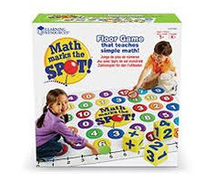 Learning Resources Math Marks The Spot Floor Game, Homeschool, Number Recognition, Addition & Subtraction, Ages Kindergarten Learning, Student Learning, Learning Resources, Fun Learning, Physical Activities, Math Activities, Activity Mat, Thing 1, Number Recognition