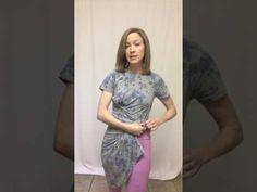 LuLaRoe Carly as a Wrap Dress (Quarter Hack) - YouTube