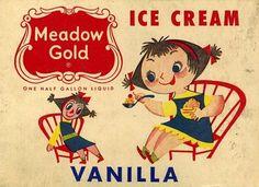 Meadow Gold ice cream illustration - Mary blair