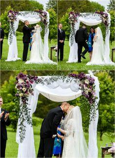 Lavender & Lace Jewish Interfaith Wedding   Mazelmoments.com, venue, foral and design www.cedarwoodweddings.com.