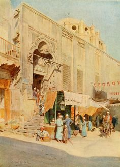 Tyndale, Walter (1855-1943) - An Artist in Egypt 1912, Mosque of Mohammed Bey. #egypt
