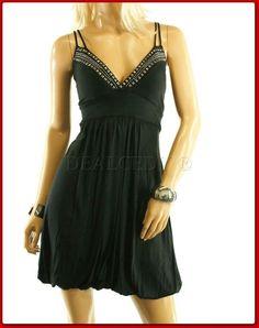 PLUS SIZE BLACK STUDDED PADDED MINI DRESS XL 2XL 3XL in Dresses  6db130d63