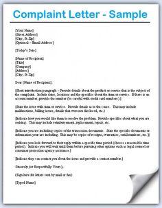Sample complaint letter sample complaint letter pinterest complaint letters samples altavistaventures Gallery
