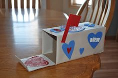 Valentines box or Valentines holder for Valentine's Day.