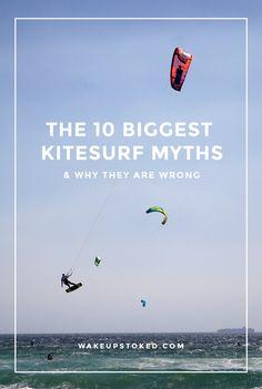 10 kitesurf myths that stop you from learning kitesurfing (I had them too before I started!) #kitesurfing