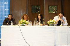 George Khabbaz,Aline Lahoud,Nadine Labaki & Nemr Abou Nassar @ AUBs got talent on 26th of February 2013.