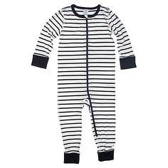 Buy Polarn O. Pyret Baby Stripe Sleepsuit Online at johnlewis.com. love this one.  £19.