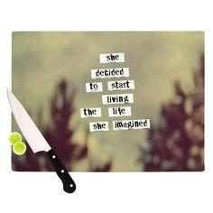 "Rachel Burbee ""Her Life"" Cutting Board"