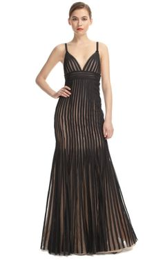 Striped Evening Gown
