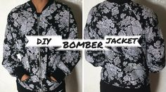 DIY Floral Bomber Jacket sewing tutorial
