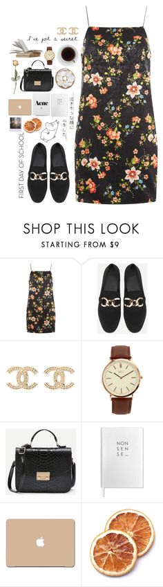 """""""I don't know if we can see each other."""" by joycereina ❤ liked on Polyvore featuring Topshop, Chanel, BKE, Sloane Stationery and 3M"""