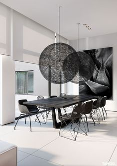 Modern Dining Room Decor – – - All About Decoration Room Tiles Design, Design Living Room, Dining Room Design, Dining Room Modern, Dining Area, Dining Rooms, Dining Table, Luxury Interior Design, Luxury Home Decor
