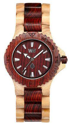 We-Wood watch Date beige-Brown