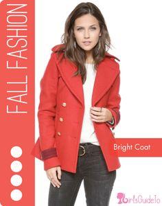 Fall Fashion Faves: The Bright Coat   GirlsGuideTo