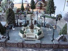 Christmas Village city park & fountain