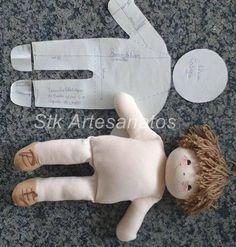 Doll tutorial come fare una pigotta from my diy word – ArtofitPattern and DIY to make a rag doll - Free patterns - Top Diy ProjectsFinally, bend up the foot and stitch across the top to the leg. Stab stitch the joint at the hips, and your doll body Sock Dolls, Felt Dolls, Baby Dolls, Doll Toys, Doll Patterns Free, Doll Clothes Patterns, Free Pattern, Fabric Doll Pattern, Homemade Dolls