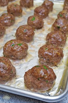 Classic Italian-American style meatballs – Famous Last Words Baked Meatball Recipe, Meatball Bake, Meatball Recipes, Meatloaf Recipes, Meat Recipes, Baking Recipes, Best Italian Meatball Recipe, Baked Italian Meatballs, Best Meatballs