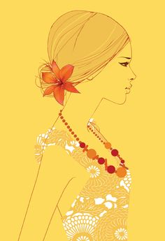 A sunny yellow piece by Lauren Bishop.