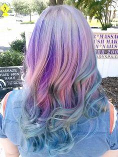 Kenra Color Creative work by Kay McCoy. #PastelHair #PinkHair #PurpleHair #BlueHair