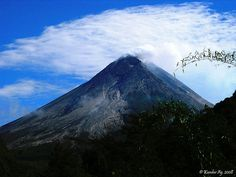 Mount Merapi, Indonesia, one of the most active volcanos in the world