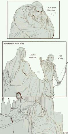 Thranduil and growing up Legolas   Hobbit