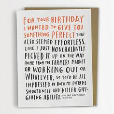 Awkward Birthday Card by Emily McDowell by emilymcdowelldraws, $4.50