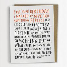 Awkward Birthday Card by Emily McDowell / by emilymcdowelldraws, $4.50