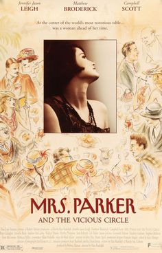 """Mrs. Parker and the Vicious Circle (1994) Vintage Movie Poster - 27"""" x 40"""""""