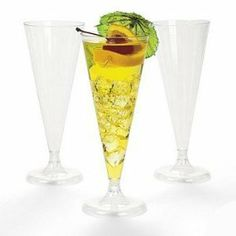 100 Plastic Wedding Champagne Flutes Glasses Party Celebration --- http://bizz.mx/go1