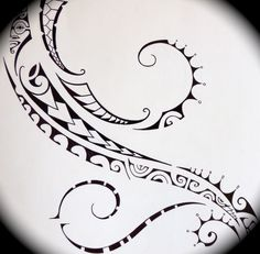 Polynesian tattoo drawing
