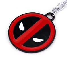 New movie Hero X-Men Marvel Deadpool Keyring Fashion Round Keychain metal Pendant car key Accessories #Affiliate