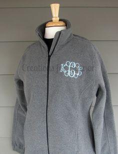 Womens Monogrammed Fleece Jacket