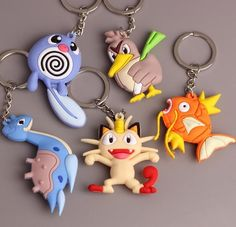 10Pcs Pokemon go mix Double sided Rubber Keychain Anime Metal Key Chains P-12   Clothing, Shoes & Accessories, Women's Accessories, Key Chains, Rings & Finders   eBay!