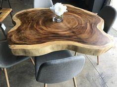 Live Edge Walnut Dining Table Set